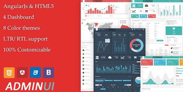 Admin UI – Angular Admin Responsive Template & Dashboard