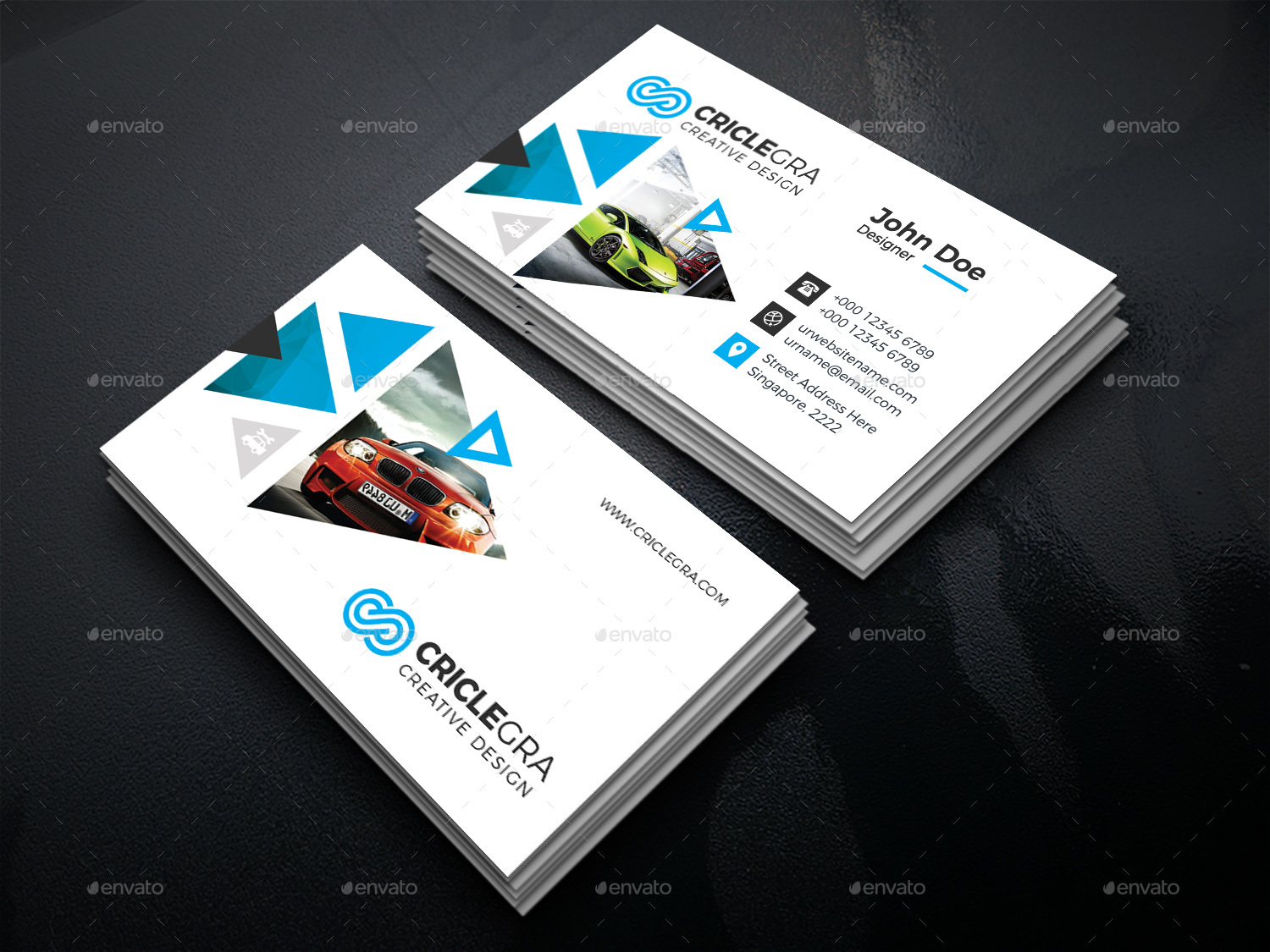 Car Servicing Business Card by generousart | GraphicRiver