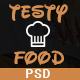 Testy Food - Cafe, Bar, Food & Restaurant PSD Template