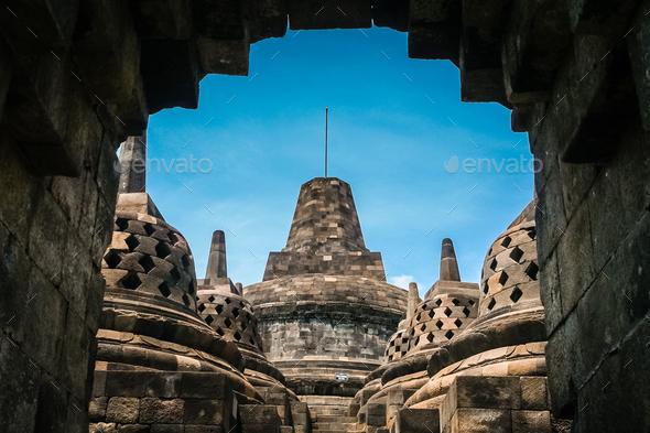 Borobudur Temple in Java - Stock Photo - Images