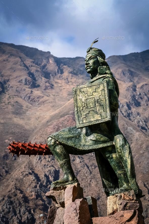 Incan warrior statue - Stock Photo - Images
