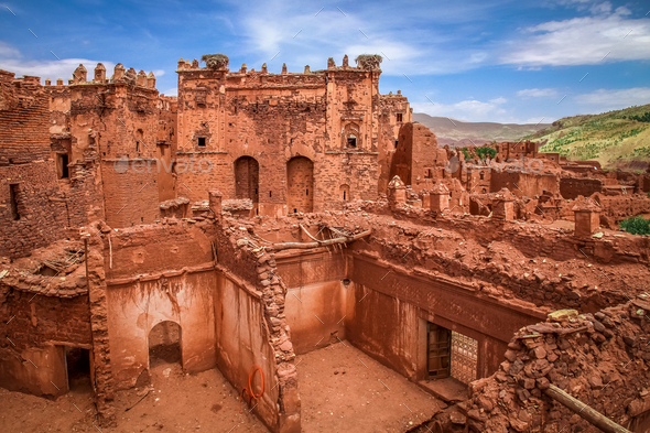 Old Telouet kasbah - Stock Photo - Images