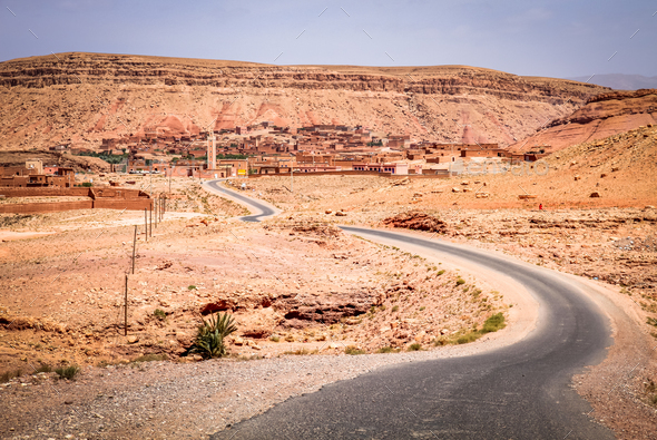 Road from Ouarzazate to Marrakesh - Stock Photo - Images