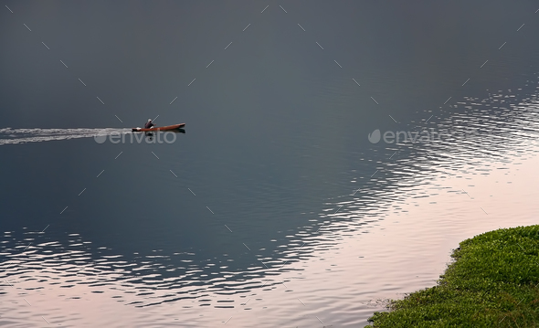 Boat on the Lake Toba - Stock Photo - Images