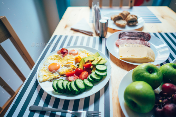 Fresh breakfast on the table - Stock Photo - Images