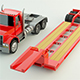 Low Poly Lowboy Trailer & Truck - 3DOcean Item for Sale