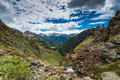 Vista over wilderness in Pyrenees mountains