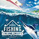 Big Game Fishing Flyer - Blue-Water Fishing Poster Template - GraphicRiver Item for Sale