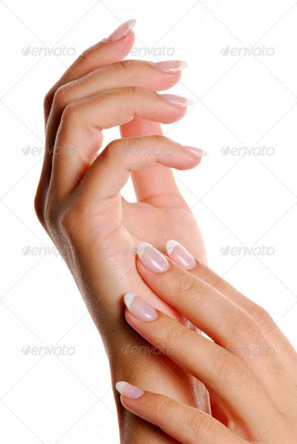 Beautiful female hands with elegance  manicure - Stock Photo - Images