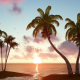 Palm Trees and Sunset - VideoHive Item for Sale