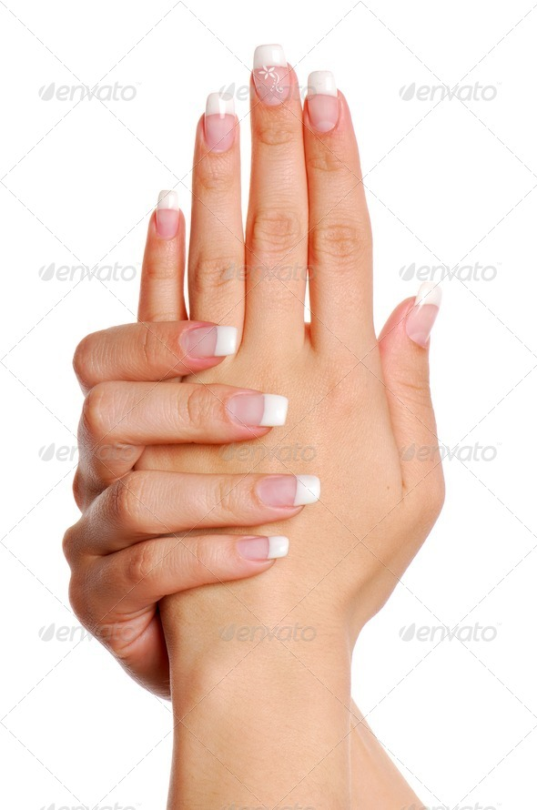 Beautifull woman hand. Fingernail. - Stock Photo - Images