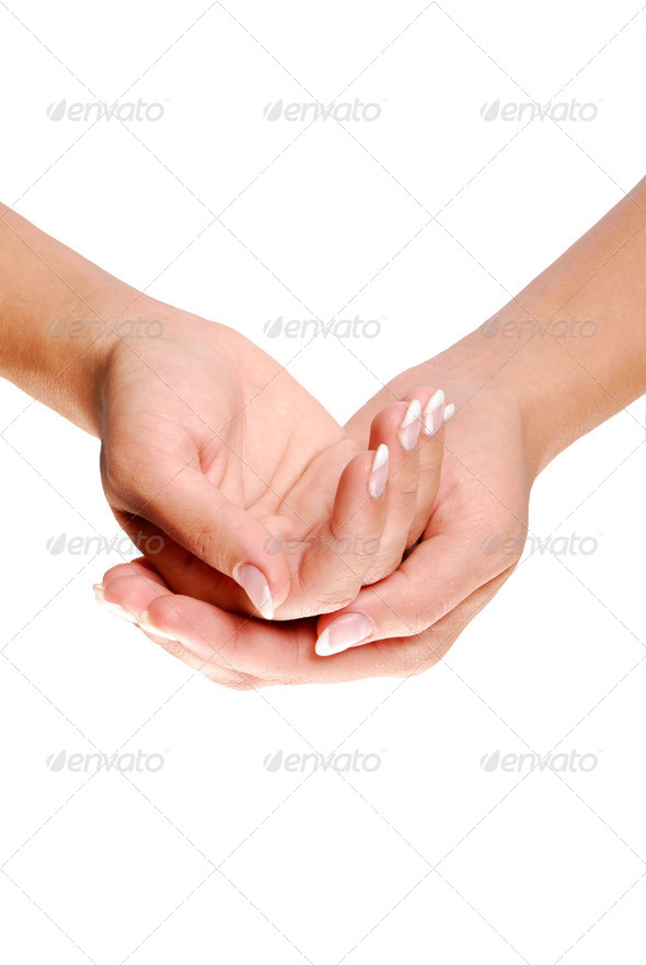 cupped hand - Stock Photo - Images