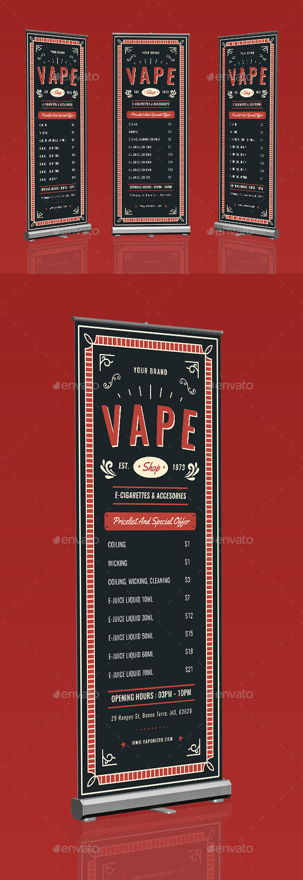 Vape Shop Roll Up Banner - Events Flyers