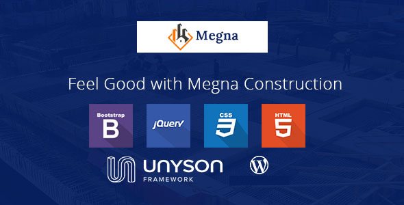 Megna Construction and Architecture WordPress Theme - Business Corporate