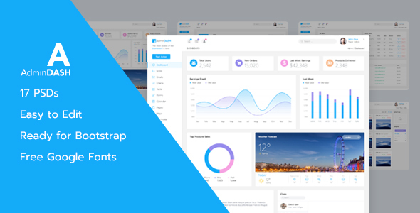 AdminDash - Dashboard for Admin - PSD Template