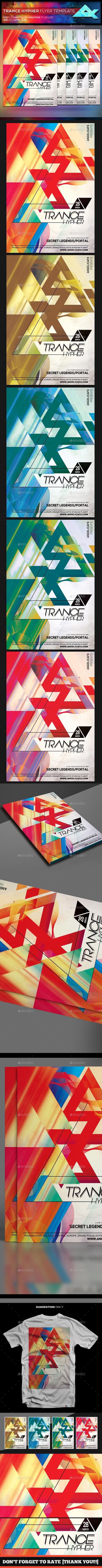 Trance Hypher Flyer Template - Flyers Print Templates
