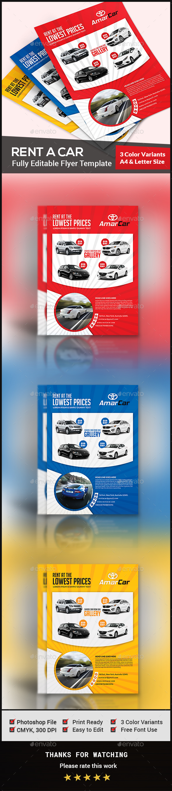 Rent a Car Flyer Template - Commerce Flyers