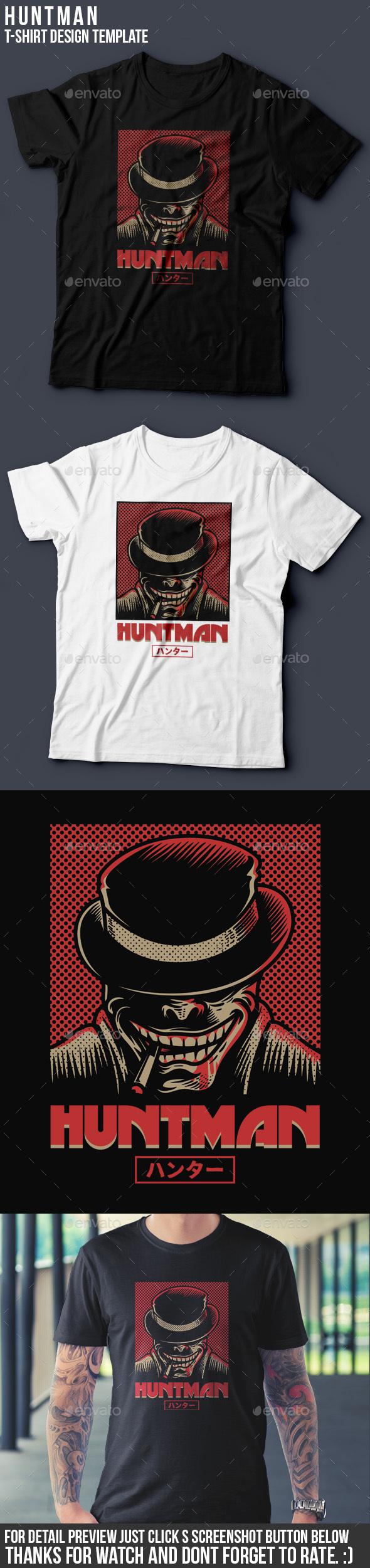 Huntman T-Shirt Design - Grunge Designs