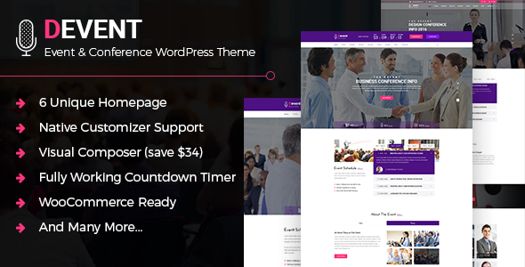 D Event - Event & Conference WordPress Theme - Events Entertainment
