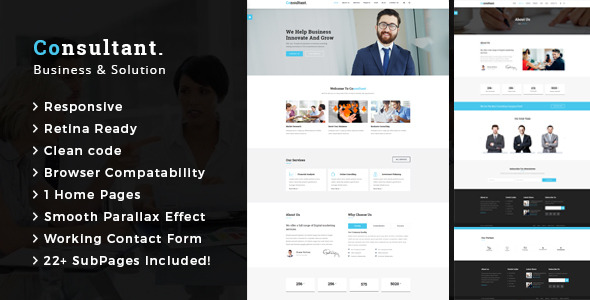 Consultant – Business Consulting and Professional Services HTML Template