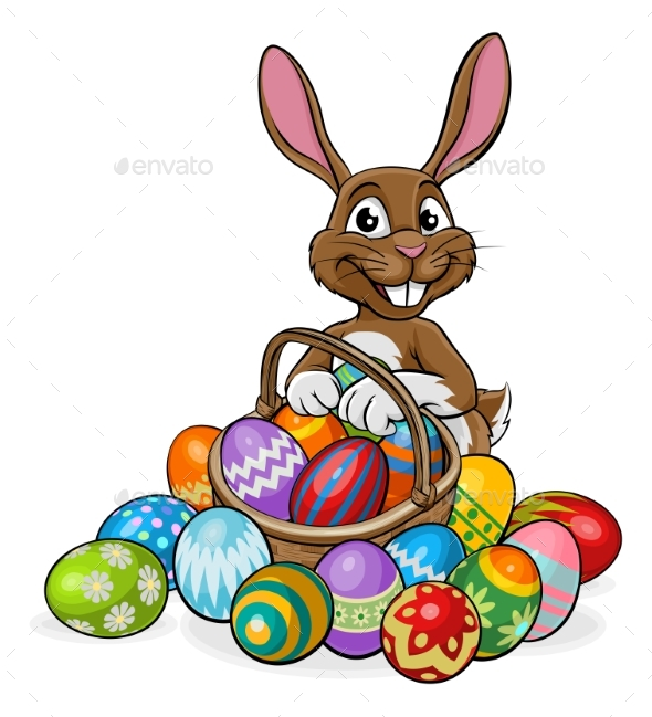 Egg Hunt Easter Bunny - Animals Characters