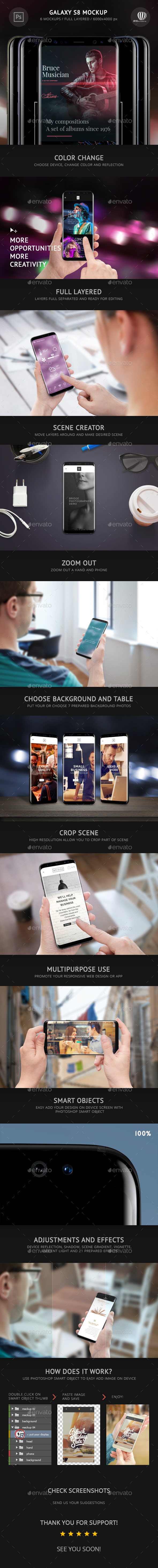 Galaxy S8 Mockup - Mobile Displays