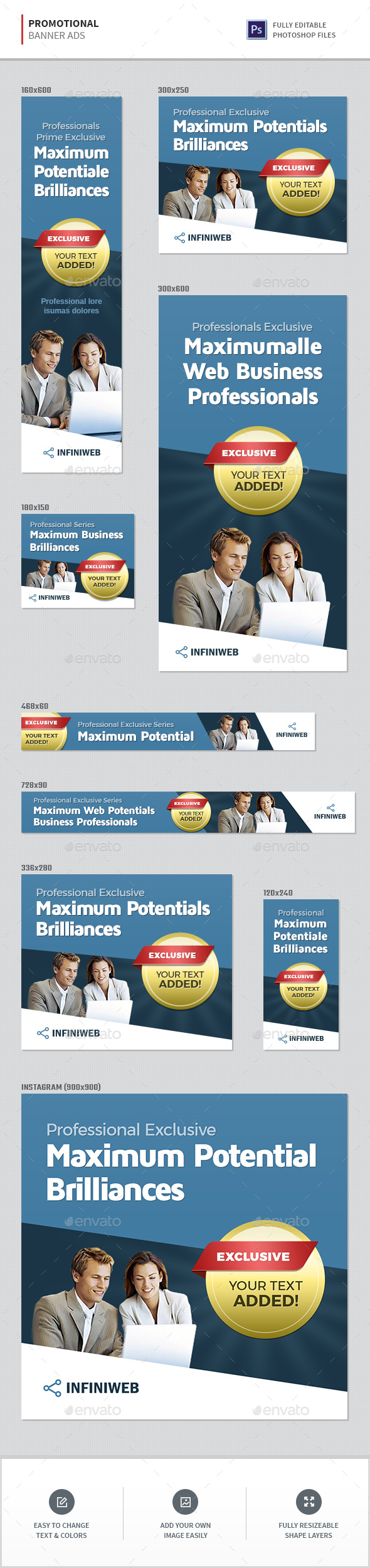Promotion Banners - Banners & Ads Web Elements