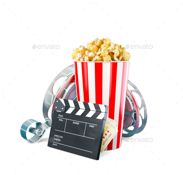 Unusual cinema concept 3D illustration - Stock Photo - Images