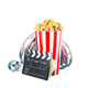 Unusual cinema concept 3D illustration - PhotoDune Item for Sale