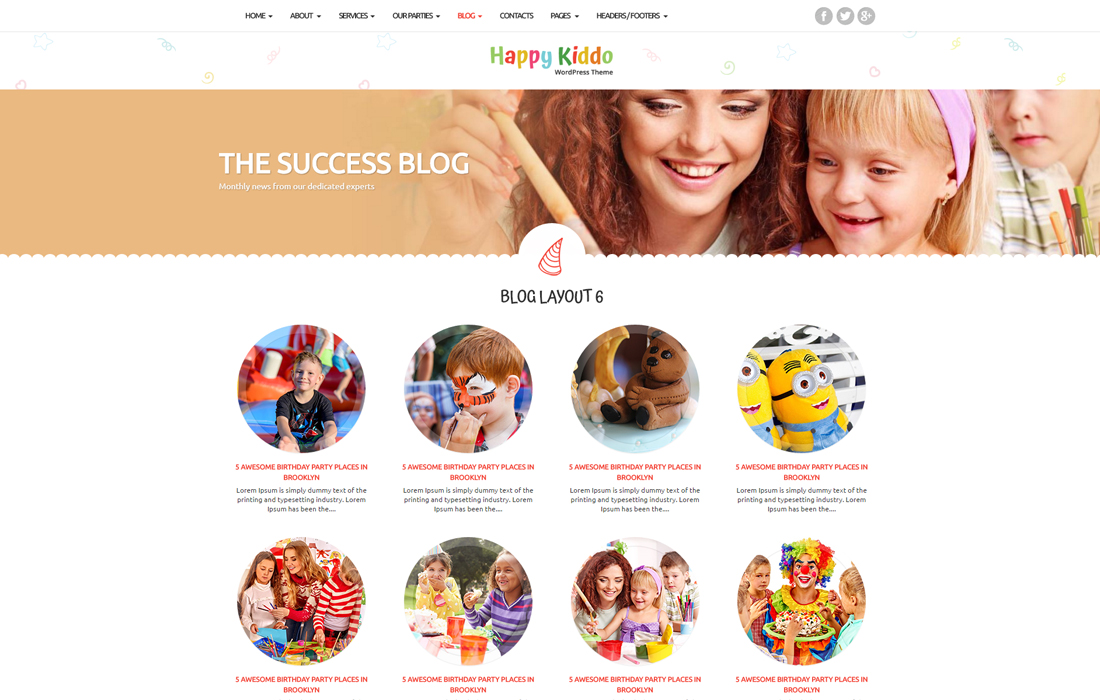 Happy Kiddo Multipurpose Kids Html Template By Entrosolutions