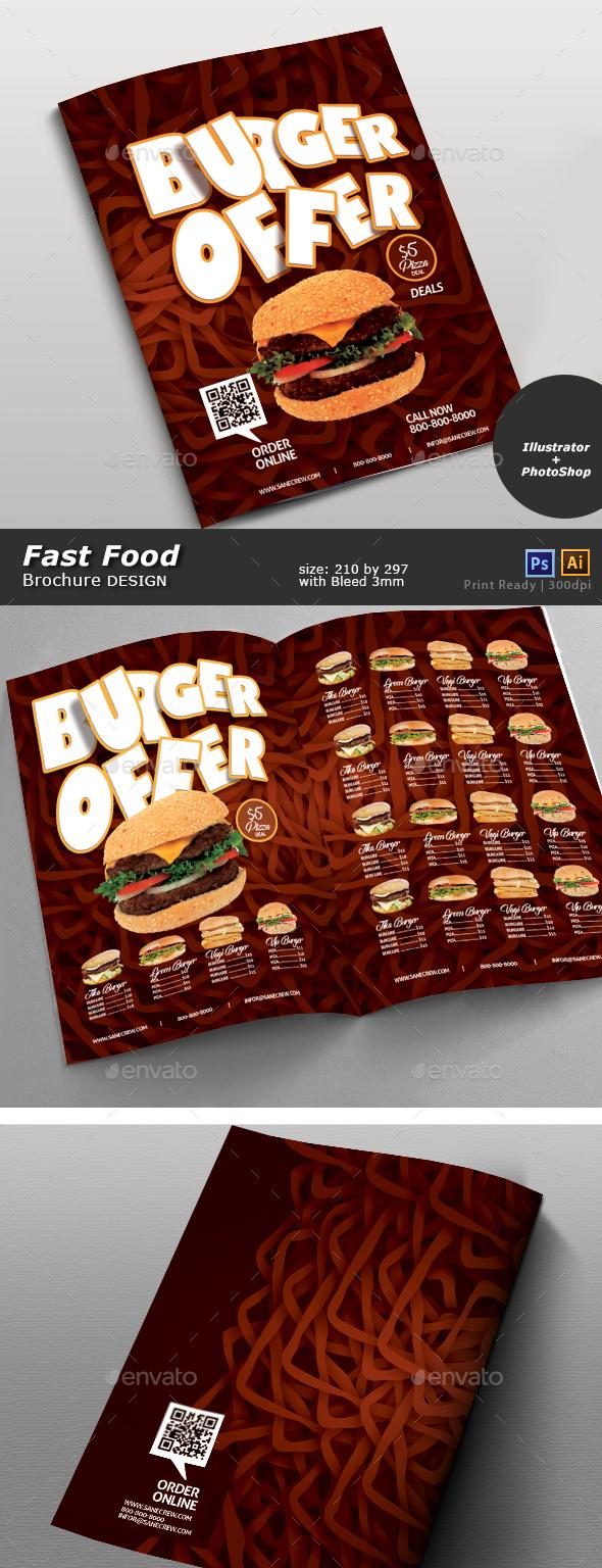 Restaurant Fast Food Menu - Brochures Print Templates