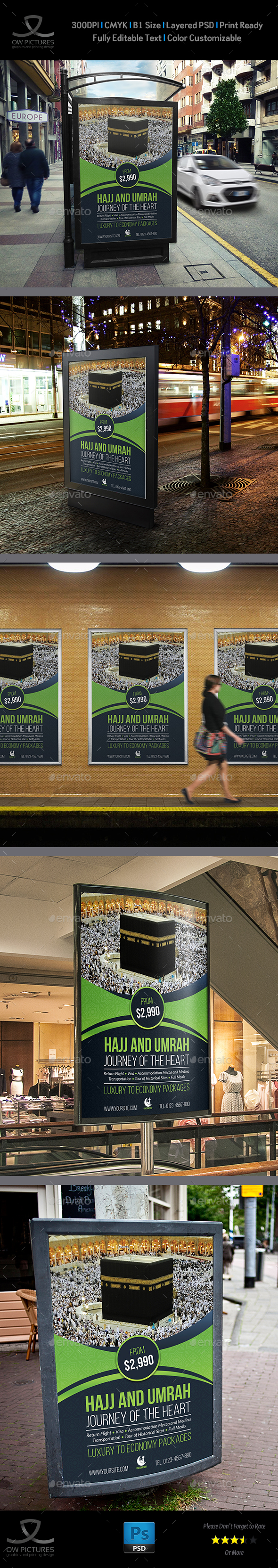 Hajj and Umrah Poster Template - Signage Print Templates
