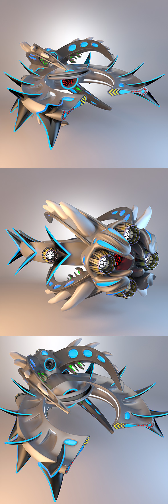 Destroyer Spaceship Concept - 3DOcean Item for Sale