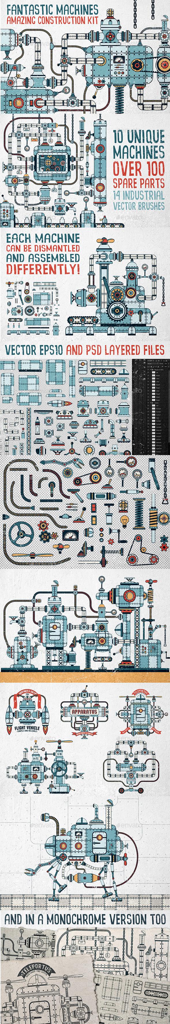 Fantastic Machines Construction Kit - Miscellaneous Vectors