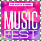 Music Festival Party Flyer Template - GraphicRiver Item for Sale