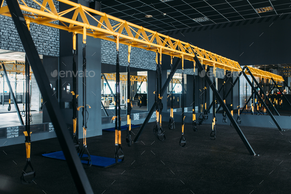 Empty modern sport center. Gym nobody - Stock Photo - Images