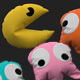 Pacman pillow set 3D model - 3DOcean Item for Sale