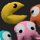 Pacman pillow set 3D model - 3DOcean Item for Sale