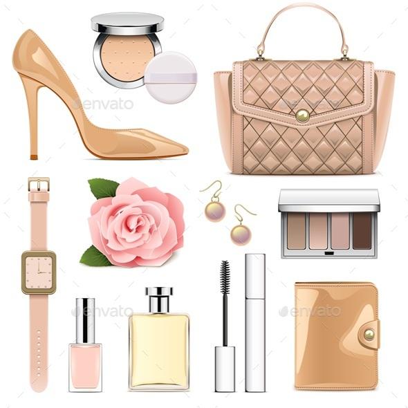 Vector Fashion Accessories Set 2 - Commercial / Shopping Conceptual