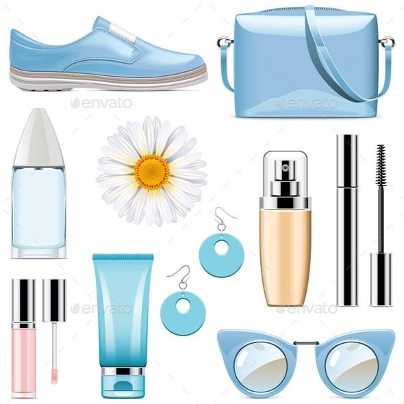 Vector Fashion Accessories Set 3 - Commercial / Shopping Conceptual
