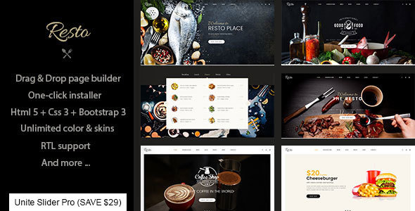 Image of Resto - Multipurpose Restaurant & Cafe Joomla Template