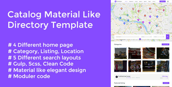 Catalog - Material Like Directory Responsive Template - Corporate Site Templates
