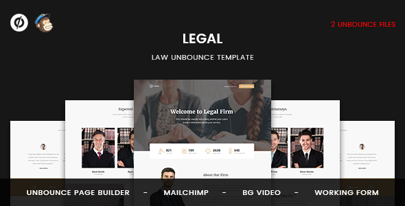 Image of Legal - Law Unbounce Template