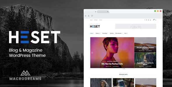 Heset - Magazine & Blog WordPress Theme