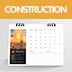 Construction Desk Calender 2018 - GraphicRiver Item for Sale