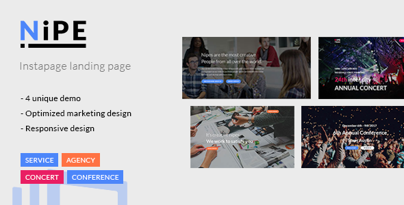 Nipe - Instapage Landing Page - Instapage Marketing