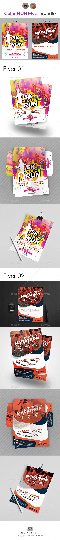 Color Run Flyer Template Bundle - Events Flyers