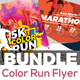 Color Run Flyer Template Bundle