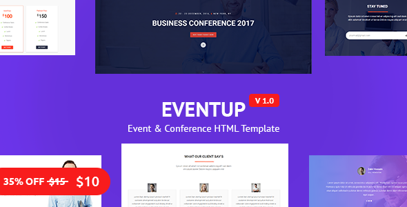 Eventup – Business and Conference Template – 2017