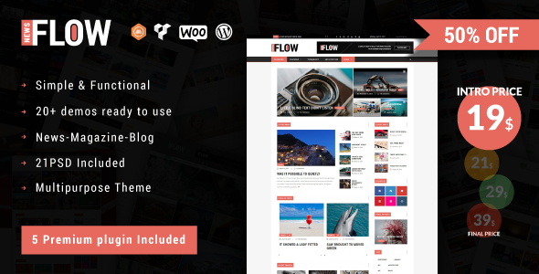 Flownews - Magazine and Blog WordPress Theme